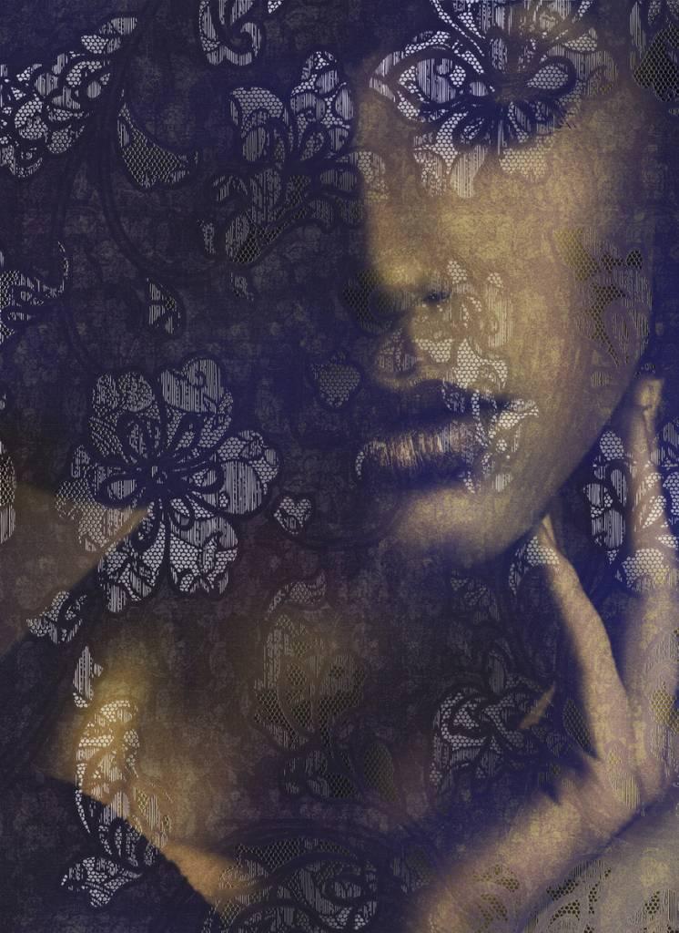 Flower & Textures Edition 1 Fotobehang Komar Bloemen Behang Lace
