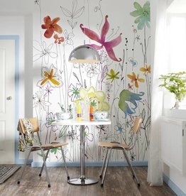 Flower & Textures Edition 1 Fotobehang Komar Bloemen Behang Joli