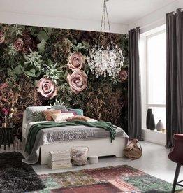Flower & Textures Fotobehang Komar Bloemen Behang Velvet