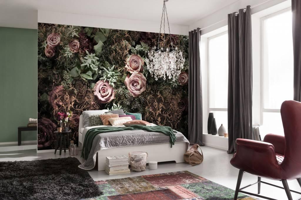 Flower & Textures Edition 1 Fotobehang Komar Bloemen Behang Velvet