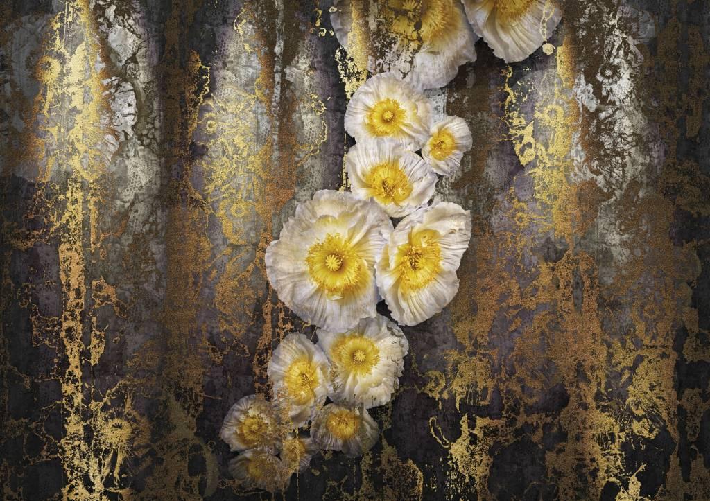 Flower & Textures Edition 1 Fotobehang Komar Bloemen Behang Serafina