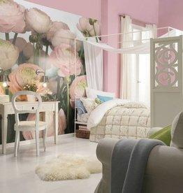 Flower & Textures Fotobehang Komar Bloemen Behang Gentle Rosé