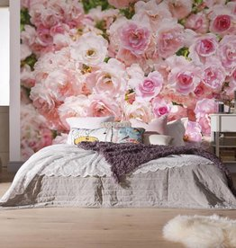 Flower & Textures Fotobehang Komar Bloemen Behang Rosa