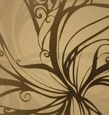 Flower & Textures Edition 1 Fotobehang Komar Bloemen Behang Gold