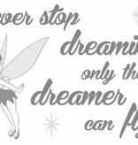 Disney Edition 1 Muursticker Kinderkamer Komar Tekst Never stop dreaming