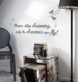Disney Muursticker Kinderkamer Komar Tekst Never stop dreaming