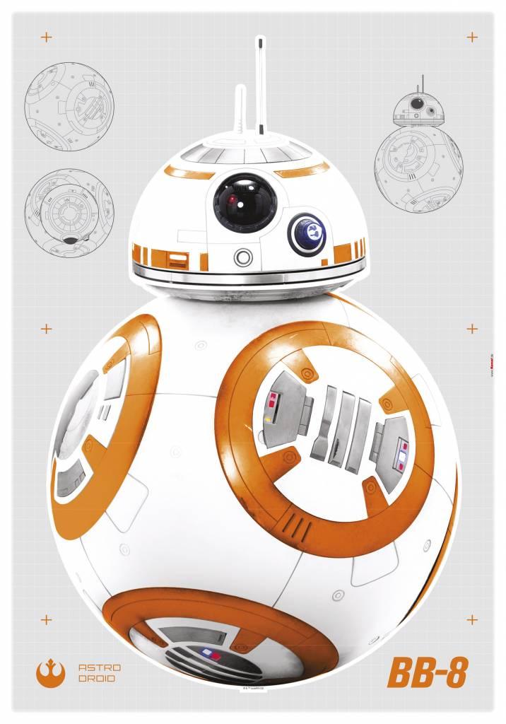 Disney Edition 1 Muursticker Kinderkamer Komar - BB-8