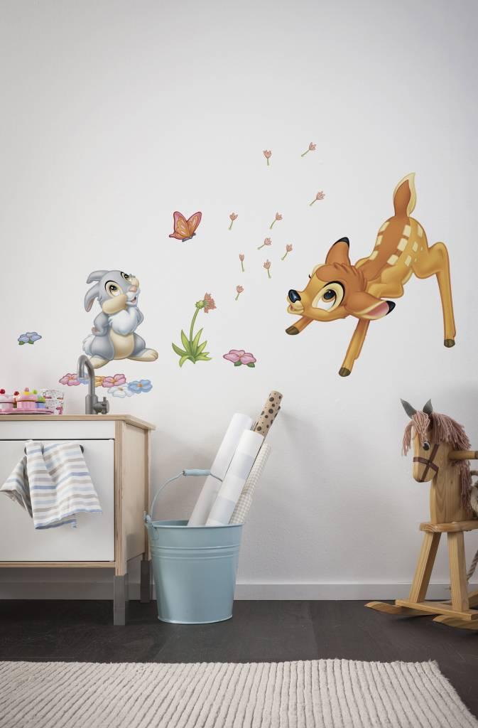Stickers Kinderkamer Disney.Muursticker Kinderkamer Komar Bambi Rap Besteld Rap Besteld