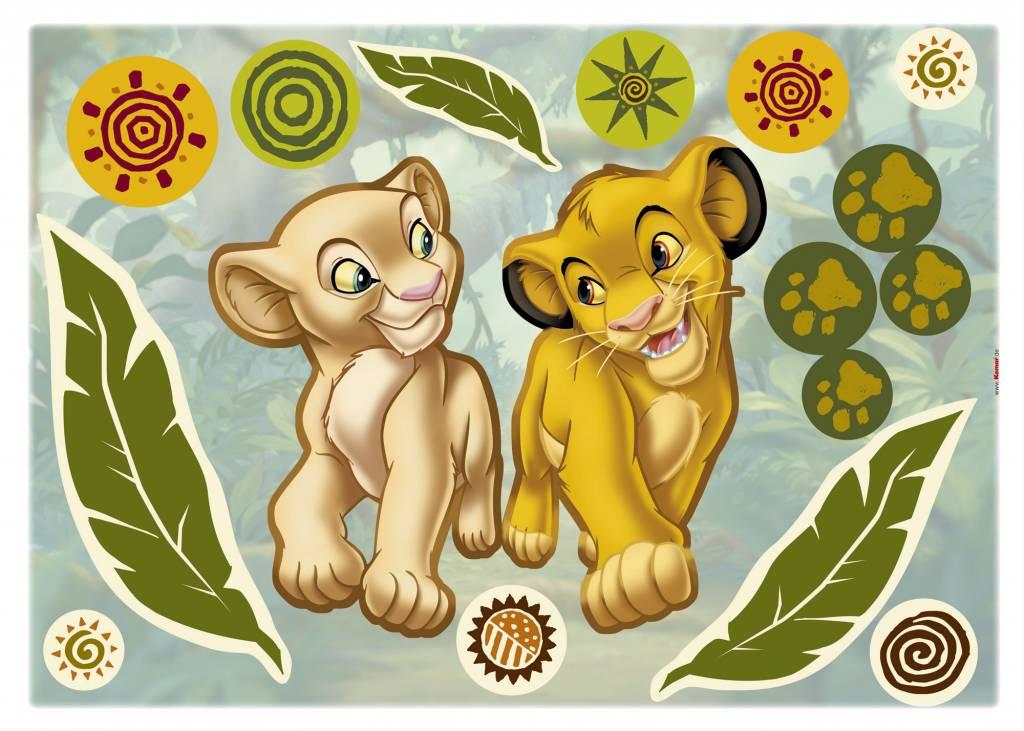 Disney Edition 1 Muursticker Kinderkamer Komar - Simba and Nala