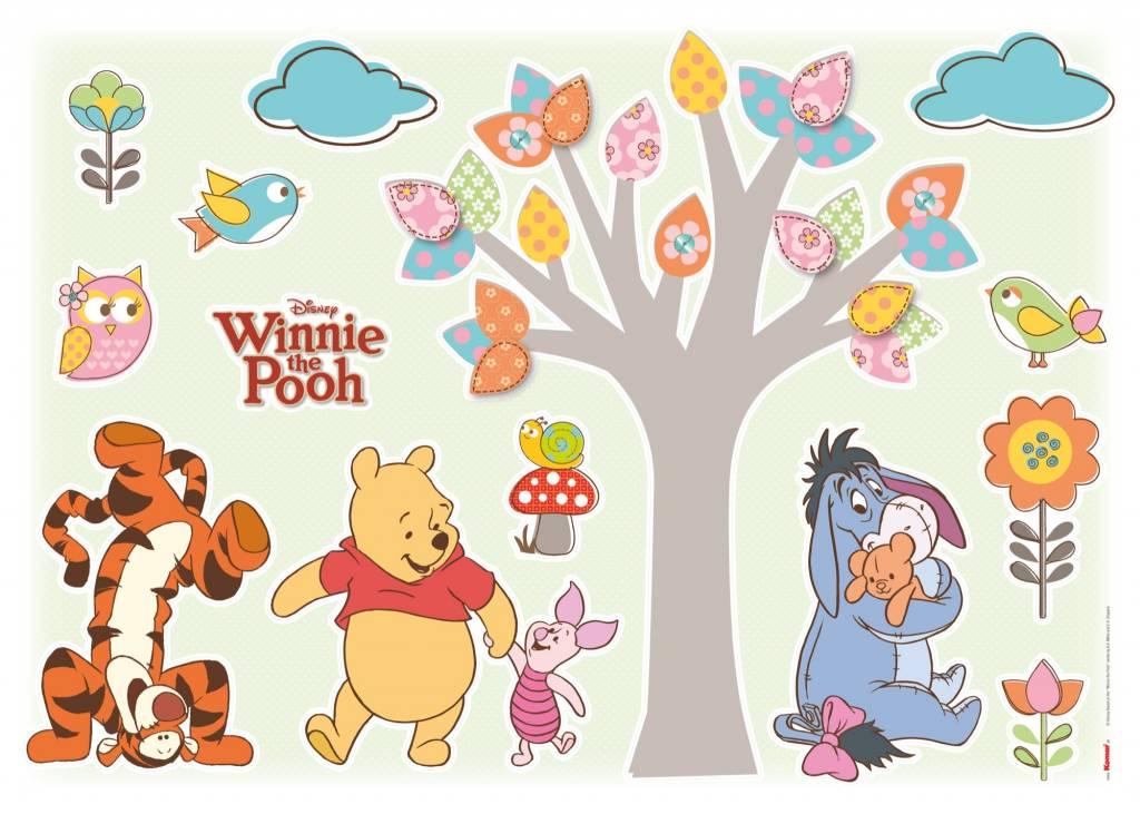 Muursticker Winnie The Pooh.Muursticker Kinderkamer Komar Winnie Pooh Nature Lovers Rap