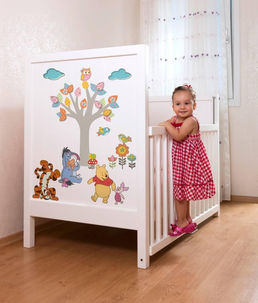 Disney Edition 1 Muursticker Kinderkamer Komar - Winnie Pooh Nature Lovers