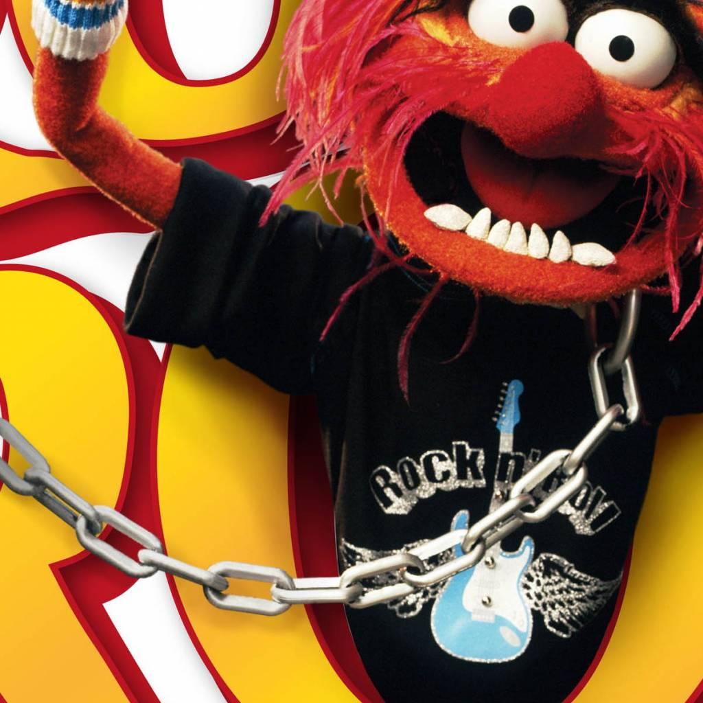 Disney Edition 1 Muursticker Kinderkamer Komar - Muppets Tier Rock'n'Roll