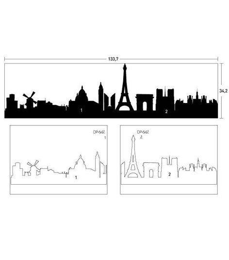 Coart Muursticker Coart - Skyline Parijs