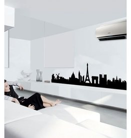 Coart Muursticker Coart - Skyline Parijs