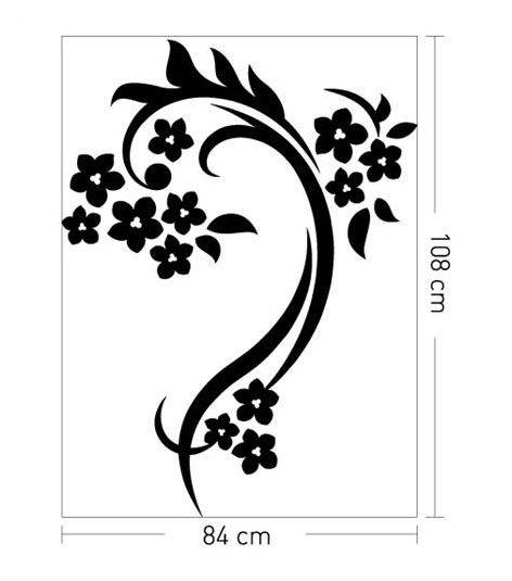Coart Muursticker Coart - Amber bloemen