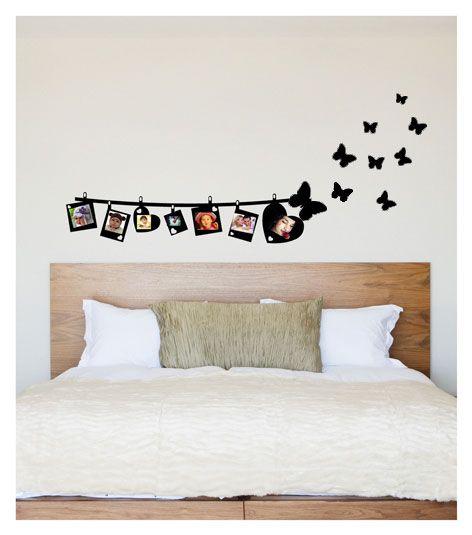 Coart Muursticker Coart - Fotoslinger met vlinders