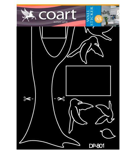 Coart Muursticker Coart - Familieboom (Zwart)