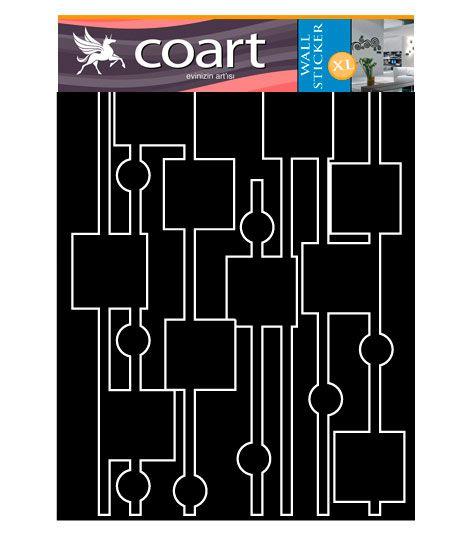 Coart Muursticker Coart - Fotoslinger met blokken