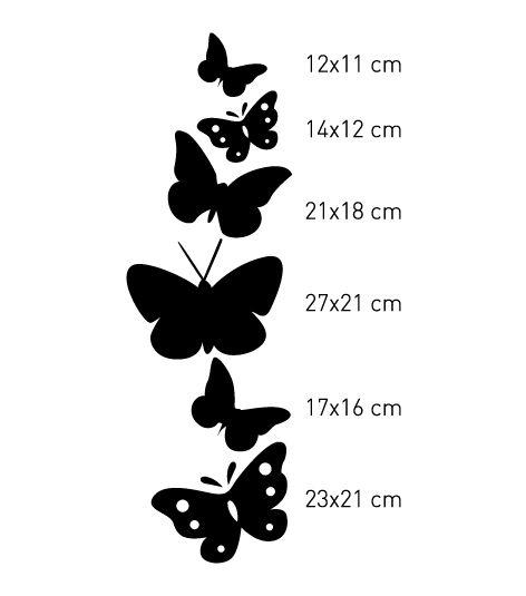 Coart Muursticker Coart - Vlinders