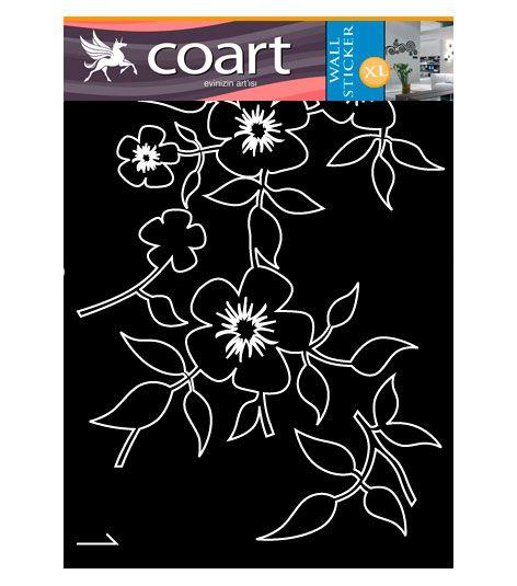 Coart Muursticker Coart - Camelia bloemen