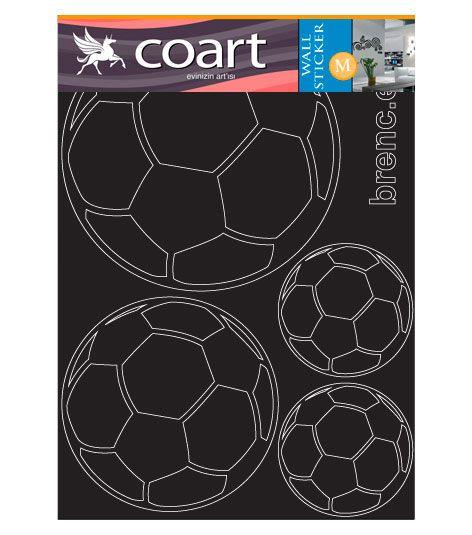 Coart Muursticker Kinderkamer Coart - Voetballen