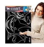 Coart Muursticker Kinderkamer Coart - Haaien