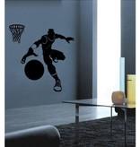Coart Muursticker Kinderkamer Coart - Basketballer