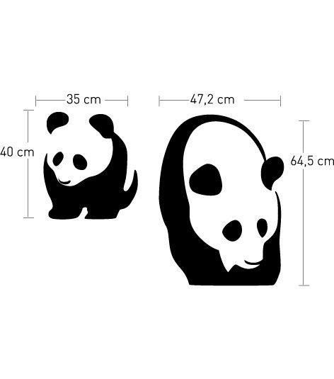 Coart Muursticker Kinderkamer Coart - Panda's