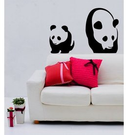 Coart Muursticker Kinderkamer Coart - Panda's