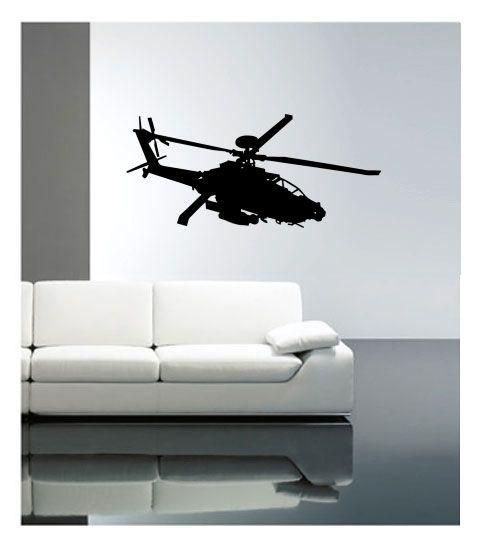 Coart Muursticker Kinderkamer Coart - Helicopter