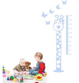 Coart Muursticker Kinderkamer Coart - Meetlat Giraf (Licht Blauw)