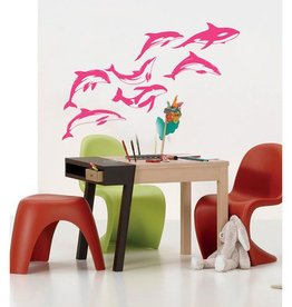 Coart Muursticker Kinderkamer Coart - Dolfijnen (Roze)