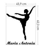 Coart Muursticker Kinderkamer Coart - Ballerina Maria