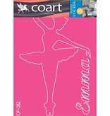 Coart Muursticker Kinderkamer Coart - Ballerina Emma (Roze)