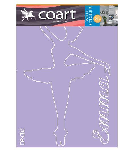 Coart Muursticker Kinderkamer Coart - Ballerina Emma (Lila)