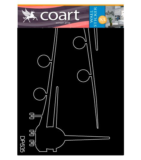 Coart Muursticker Kinderkamer Coart - Airplane (Grijs)