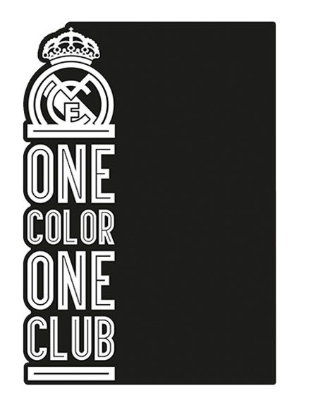 Imagicom Muursticker Imagicom - Real Madrid Black Board One Color