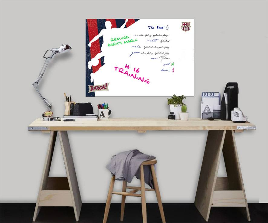 Imagicom Muursticker Imagicom - FC Barcelona White Board