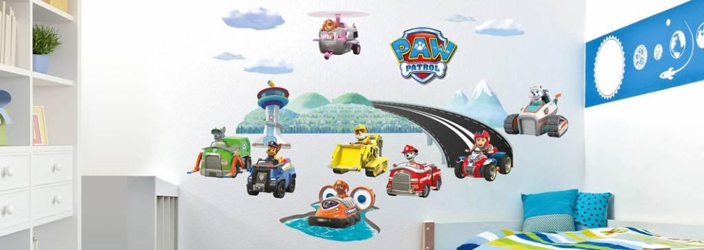 Imagicom Muursticker Imagicom - Paw Patrol Auto's