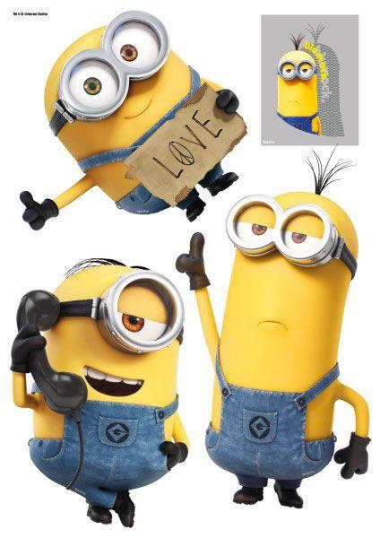 Imagicom Muursticker Imagicom - Minions Stuart, Kevin & Bob