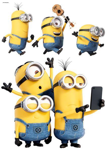 Imagicom Muursticker Imagicom - Minions Selfie & Run
