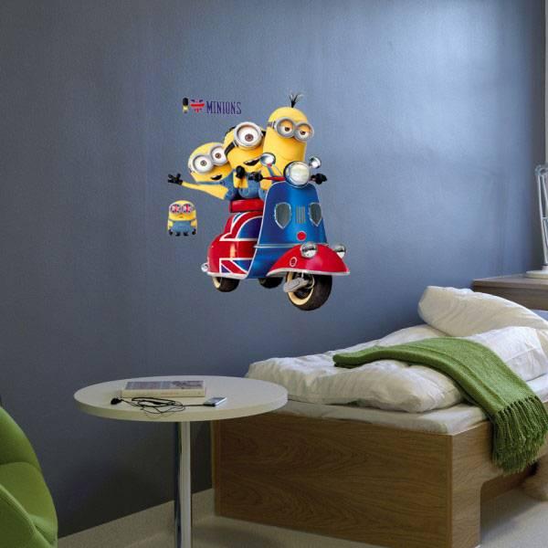 Imagicom Muursticker Imagicom - Minions Scooter