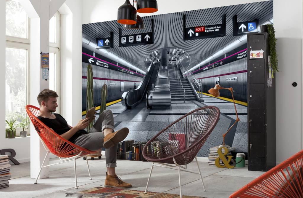 Scenics Edition 2 Fotobehang Komar - Steden behang Subway