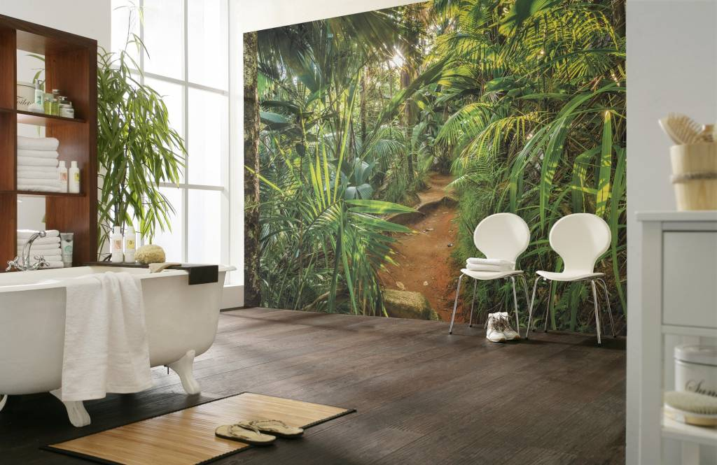 Behang Kinderkamer Jungle.Fotobehang Komar Natuur Behang Jungle Trail Rap Besteld