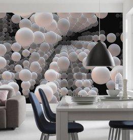 Flowers & Textures Fotobehang Komar - Stijlen behang 3D Spherical