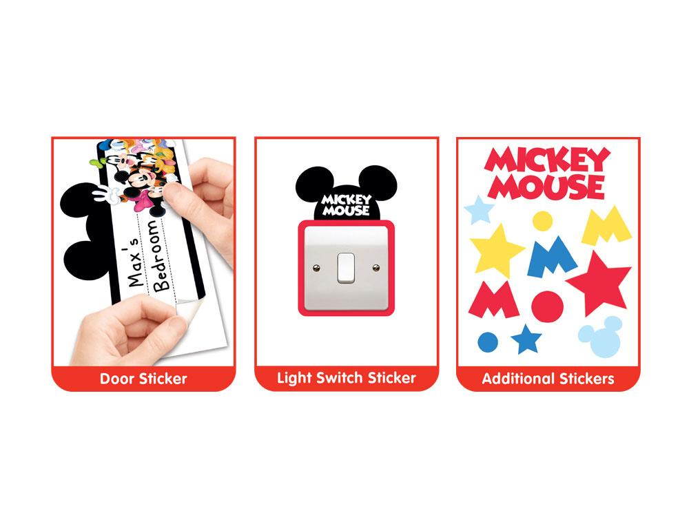 Stickers Kinderkamer Disney.Muursticker Kinderkamer Walltastic Xxl Disney Mickey Mouse Rap
