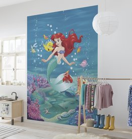 Disney Edition 4 Kinderbehang Komar - Kinderkamer behang ARIEL SINGING