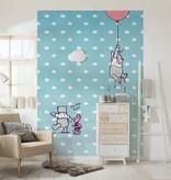 Disney Edition 4 Kinderbehang Komar - Kinderkamer behang WINNIE POOH PIGLET