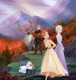 Disney Edition 4 Kinderbehang Komar - Kinderkamer behang FROZEN SPRING IS COMING