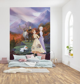 Disney Edition 4 Kinderbehang Komar - Kinderkamer behang FROZEN SPRING IS COMING